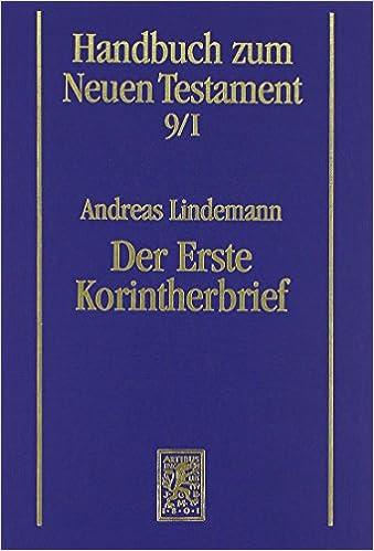 Book Der Erste Korintherbrief (Handbuch Zum Neuen Testament)
