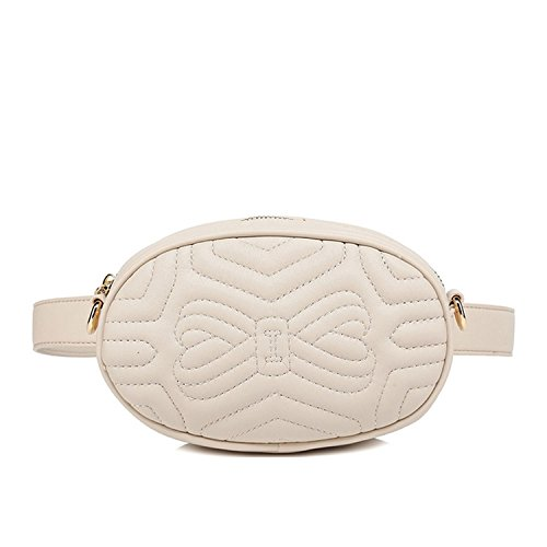Motif Leather and Bag Tone bee with Shoulder Designer bumbag Faux Beige Two Stripe Inspired Large 4qxnfUzwE