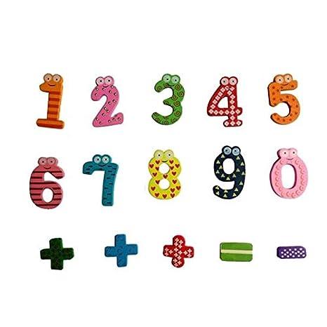 FairOnly Y714 Magnetisches Mathematik-Set aus Holz f/ür Babys Lernspielzeug Wie abgebildet