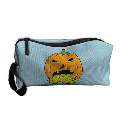Halloween Pumpkins Puking (Halloween Puking Pumpkin Travel Jewelry Bags For Women Cosmetic Case With)