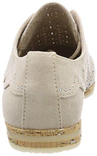 Tozzi Oxford para Beige Mujer Zapatos de Dune Cordones 23500 Marco aqXYdq