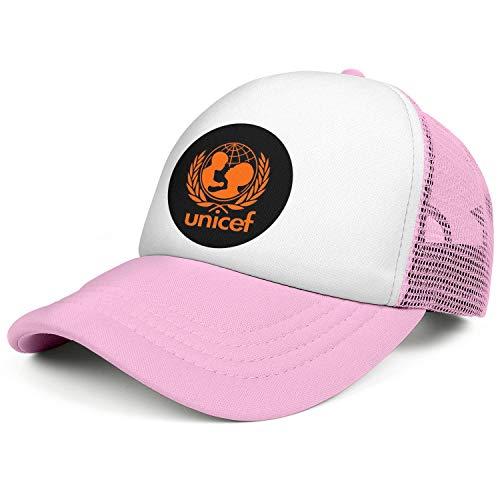 (ZWZHI UNICEF Men Women Vintage Mesh Baseball Cap Snapback Adjustable Back)