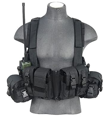 600D Lancer Tactical CA-317 Series T1G Load Bearing Chest Rig (BLACK)
