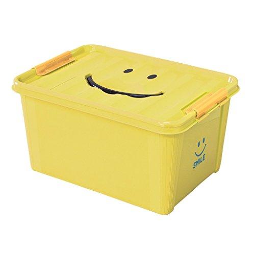 (Time Concept SMiLE Medium Storage Box - Stackable Organizer - Yellow)