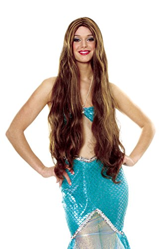 Costume Culture Women's Atlantis Wig, Brown, One Size