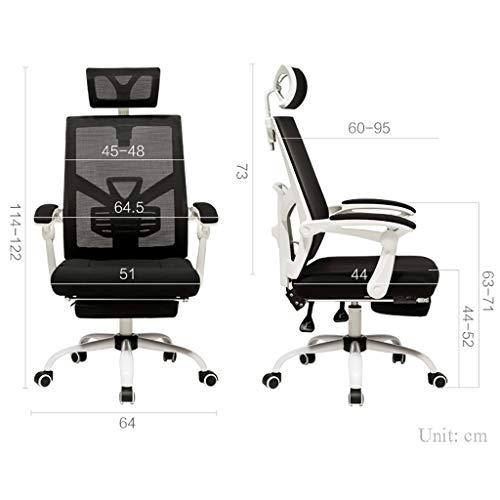 Kontorsstol, ergonomisk design, aktiv midja, kan lägga människors datorstol (färg: Svart, design: B)