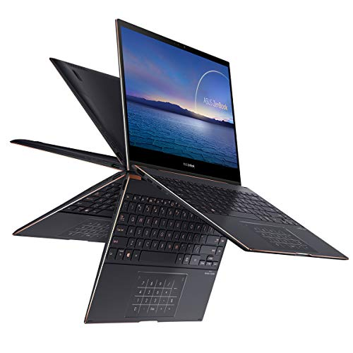 ASUS ZenBook Flip S 13 UX371EA-HL049T – Portátil de 13.3 » 4K UHD (Intel Core i7-1165G7, 16GB RAM, 1TB SSD, Intel Iris Xe Graphics, Windows 10 Home) Jade Negro – Teclado QWERTY español