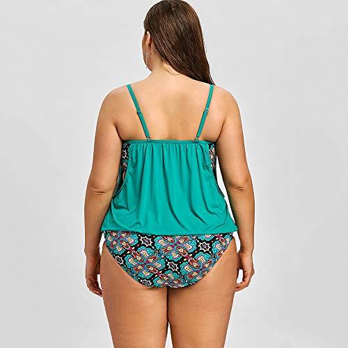 dcd60849122 해외구매대행 ] BELLEZIVA Women Plus Size Tankini Bathing Set Floral ...