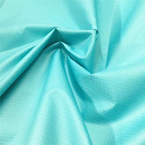 ZAIONE Ripstop Waterproof Fabric Water Repellent Fabric Water Resistant Material Dustproof PU Coating Fabric for Kites Flag Tarp Cover Table Cloth Sewing Patchwork by The Yard Width 59