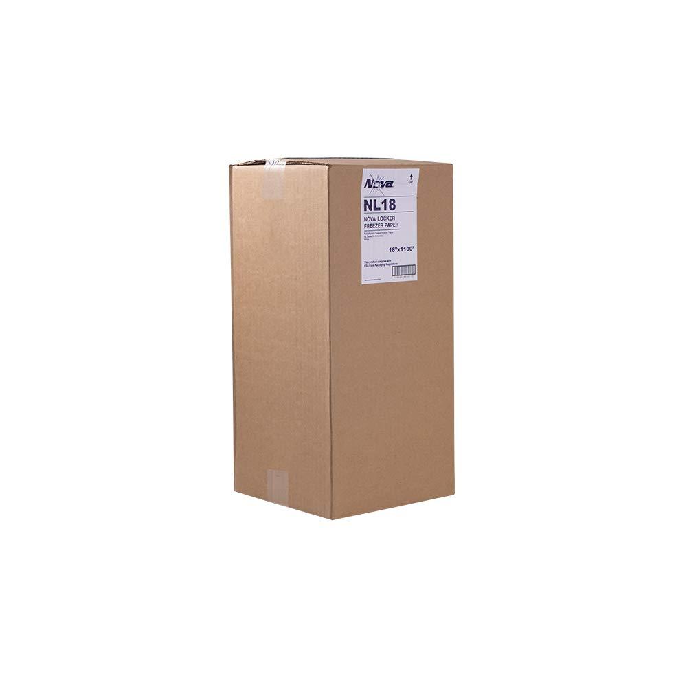 NL18 Nova 18'' Freezer Paper White 1100' Boxed 1 roll
