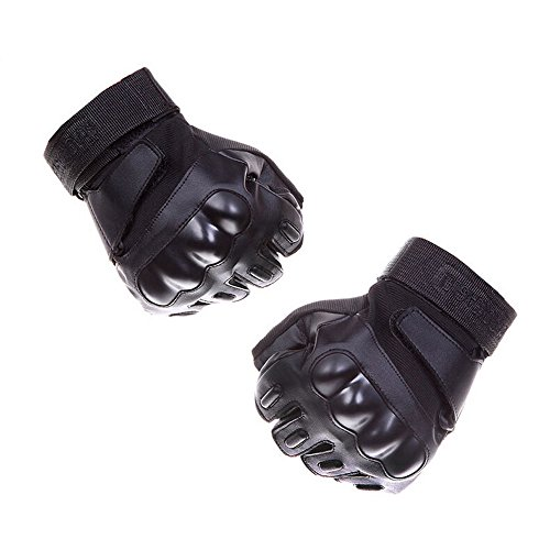 Knuckle Protection (Fatmingo Fingerless/Half-finger Hard Knuckle Protection Military Tactical Gloves Shooting for Outdoor Cycling Hunting Riding(M))