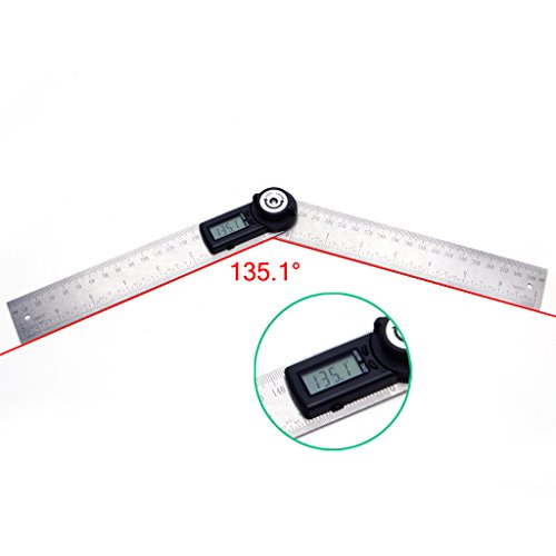 cici store 2 In 1 Digital Angle Finder Ruler 360° 200mm Electronic Meter Finder by cici store