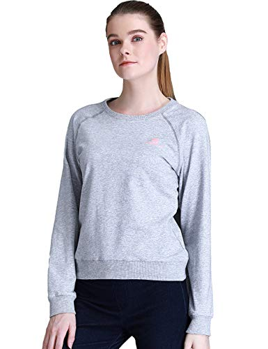 Camel Crown Women Sweatshirts Crewneck Pullover Sport Long Slevees Cotton T-Shirts Breathable for Running