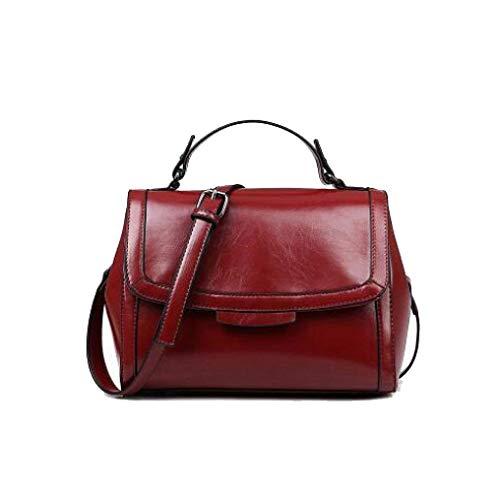 Tamaño color Bolso Rojo Mujer Rojo Eeayyygch Bag Fashion Lady Messenger Sweet Un Vino Tamaño Bandolera Oxq6qdSw8