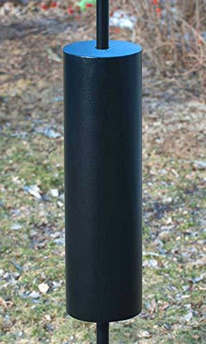 Set of 2 Woodlink Torpedo Raccoon Baffles, Black, 8'' Dia. Each