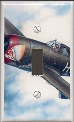 Single Toggle (1-toggle) Light Switch Plate Cover - Little Chief Airplane