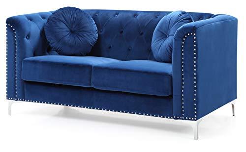 Glory Furniture Pompano G781A-L Love Seat, Navy Blue. Living Room Furniture 31