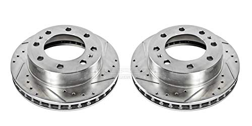 Front Evolution Drilled & Slotted Rotor Pair ()