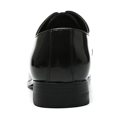 Herren Derby-Schuhe Schnürhalbschuhe Retro Klassiker Oxfords Schnürer Modische Anzug Schuhe Schwarz Silber Silber Schwarz