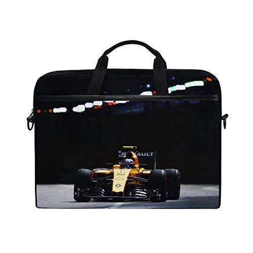 Racing Formula Renault - Renault Formula 1 Palmer Racing Laptop Shoulder Messenger Bag Case Sleeve for 14 Inch to 15.6 Inch with Adjustable Notebook Shoulder Strap