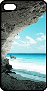 Ocean Carved Rock Formation Black Rubber Case for iPhone 4 or iPhone 4s