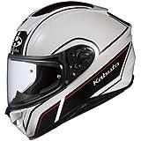 オージーケーカブト(OGK KABUTO)バイクヘルメット フルフェイス AEROBLADE5 SMART(スマート) ホワイトブラック (サイズ:L) 575199