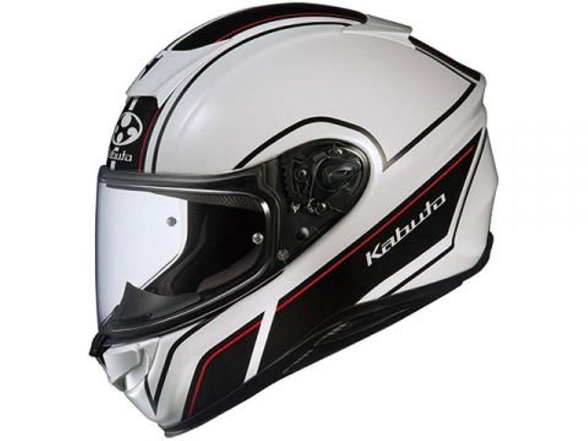 [해외] OG K (카부)카브도(OGK KABUTO)오토바이 헬멧 풀 페이스 AEROBLADE5 SMART(스마트) 화이트 블랙 (사이즈:XL) 575205
