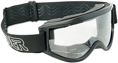 Raider 26-001 Single Lens Impact-Resistant Adult MX Off-Road Goggles, Black Frame/Clear ()