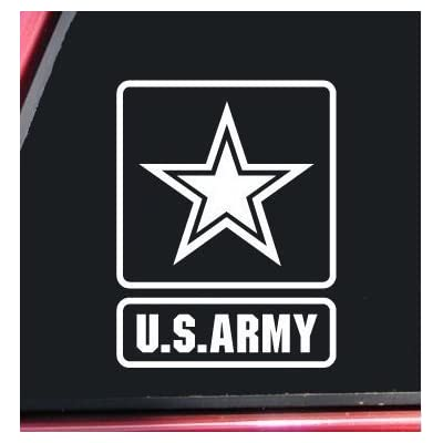U.S. Army Vinyl Decal Sticker -Cars Trucks Vans Walls Laptop| White | 5.75 in Tall | KCD195: Automotive
