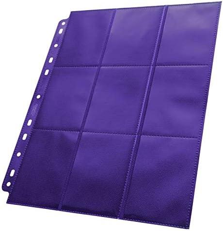 50 Pack Ultimate Guard Blue 18 Pocket Side Loading Pages Card Storage Binder Portfolio Pages