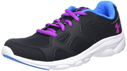Price comparison product image Under Armour Kids Girl's UA GGS Pace RN (Big Kid) Black / White / Strobe Sneaker 4.5 Big Kid M