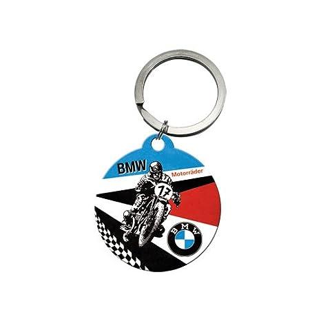Nostalgic-Art 48017 BMW Motos, Llavero Redondo, 4 cm