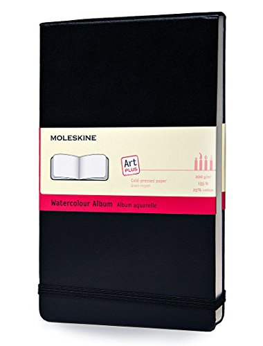 Moleskine Kreativ-Notizbücher, Aquarellbuch Large, Hardcover schwarz
