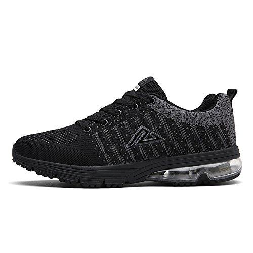 Sportive Scarpe da Sneaker Scarpe nero Anti Fitness Palestra Sport Shock da da per Running con Uomo JEDVOO Corsa Air qCTwvxvZ