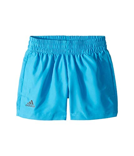 adidas Kids Boy's Club Shorts (Little Kids/Big Kids) Shock Cyan/Black Large (Cyan Shorts)