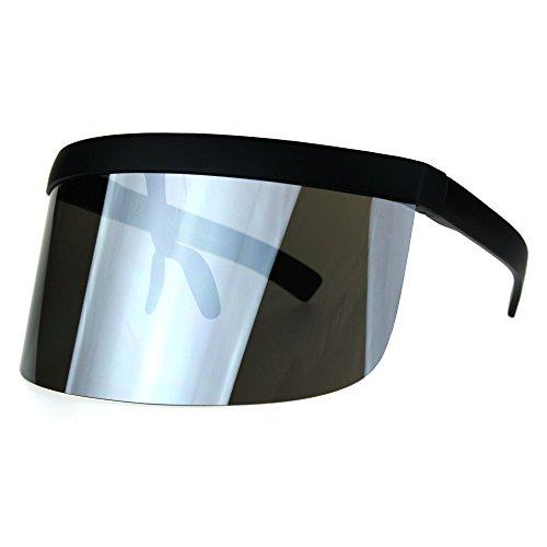 Visor Cover Sunglasses Sun Cover for Face Shades Silver Mirror Lens UV ()
