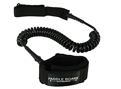 Paddle Board Accessories Profesional Grade Stand Up Paddleboard Leash (Black, - Orange Croakies