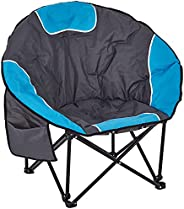 Panda Eye Oversized Moon Chairs Camping Chair Round Saucer Chair Folding Portable Outdoor Chair with Storage B