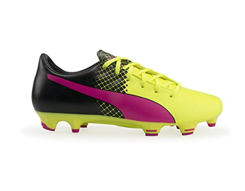 Puma Mens Evopower 3.3 Trucchi Fg Pink Glo / Safety Yellow / Black Shoes