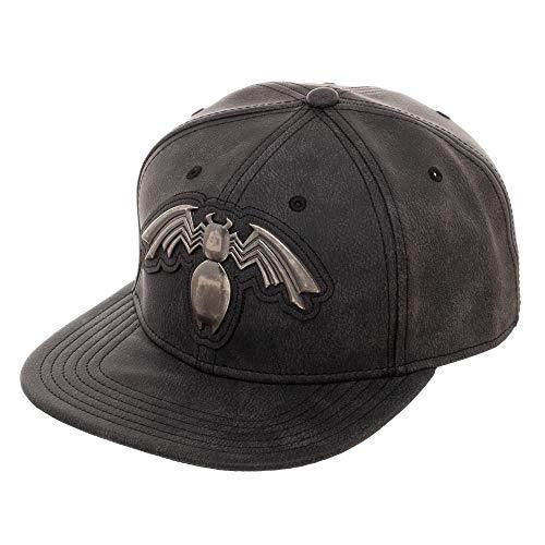 Venom Logo Symbol Distressed PU Snapback Hat