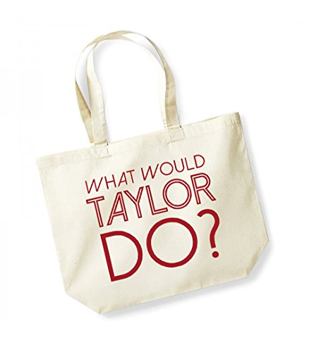 Canvas Bag Unisex Kelham Natural red Tote Do Slogan Cotton Would What Print Taylor xrYfIr
