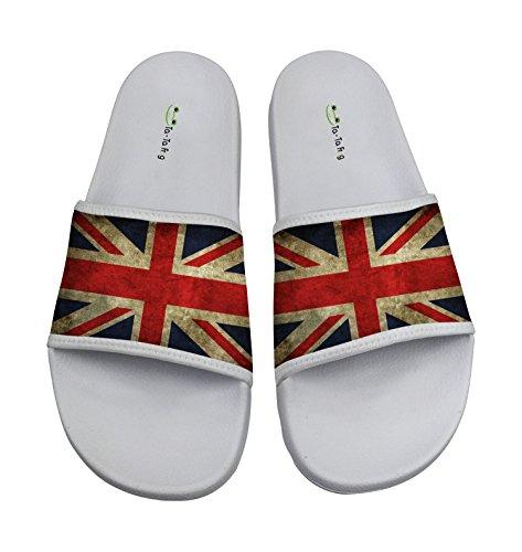 TA-TA FROG England Flag Anti-skidding Beach And Pool Flip Flops
