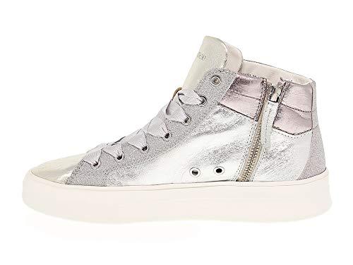 Sneakers Donna Crime25021 Argento Crime Pelle London ZEqaUUwf5