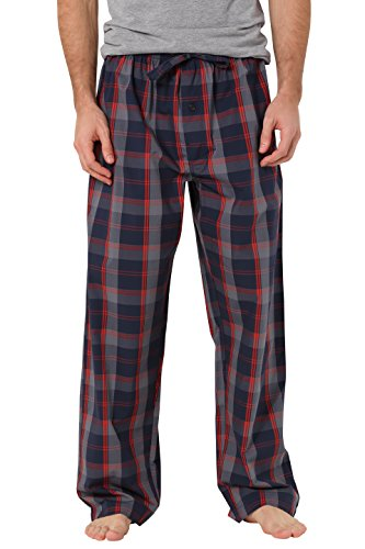 CYZ Men's 100% Cotton Poplin Pajama Lounge Sleep Pant-P17002-L (Pj Sleep)