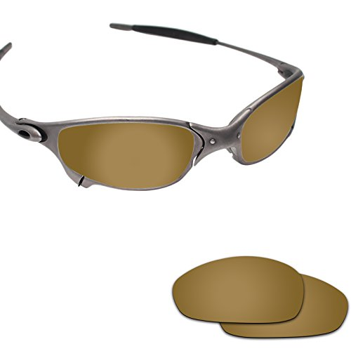Fiskr Anti-saltwater Polarized Replacement Lenses for Oakley Juliet Sunglasses - Various Colors (Bronze Gold - Anti4s Mirror Polarized, 0) by Fiskr