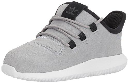 Price comparison product image adidas Originals Boys' Tubular Shadow I Sneaker, Mid Grey/White/Black, 9 M US Infant
