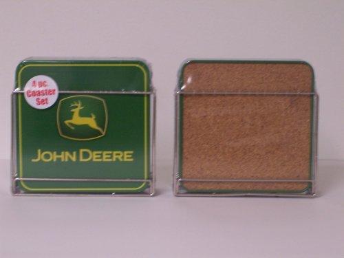 John Deere Coasters - John Deere 4pc Coaster Set with Metal Holder
