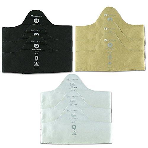 100% Pure Bamboo Cotton Bra Liner (9-pk, XL) - Sweat Wicking