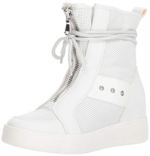 (Steve Madden Women's Anton Sneaker, White Leather, 6 M US )
