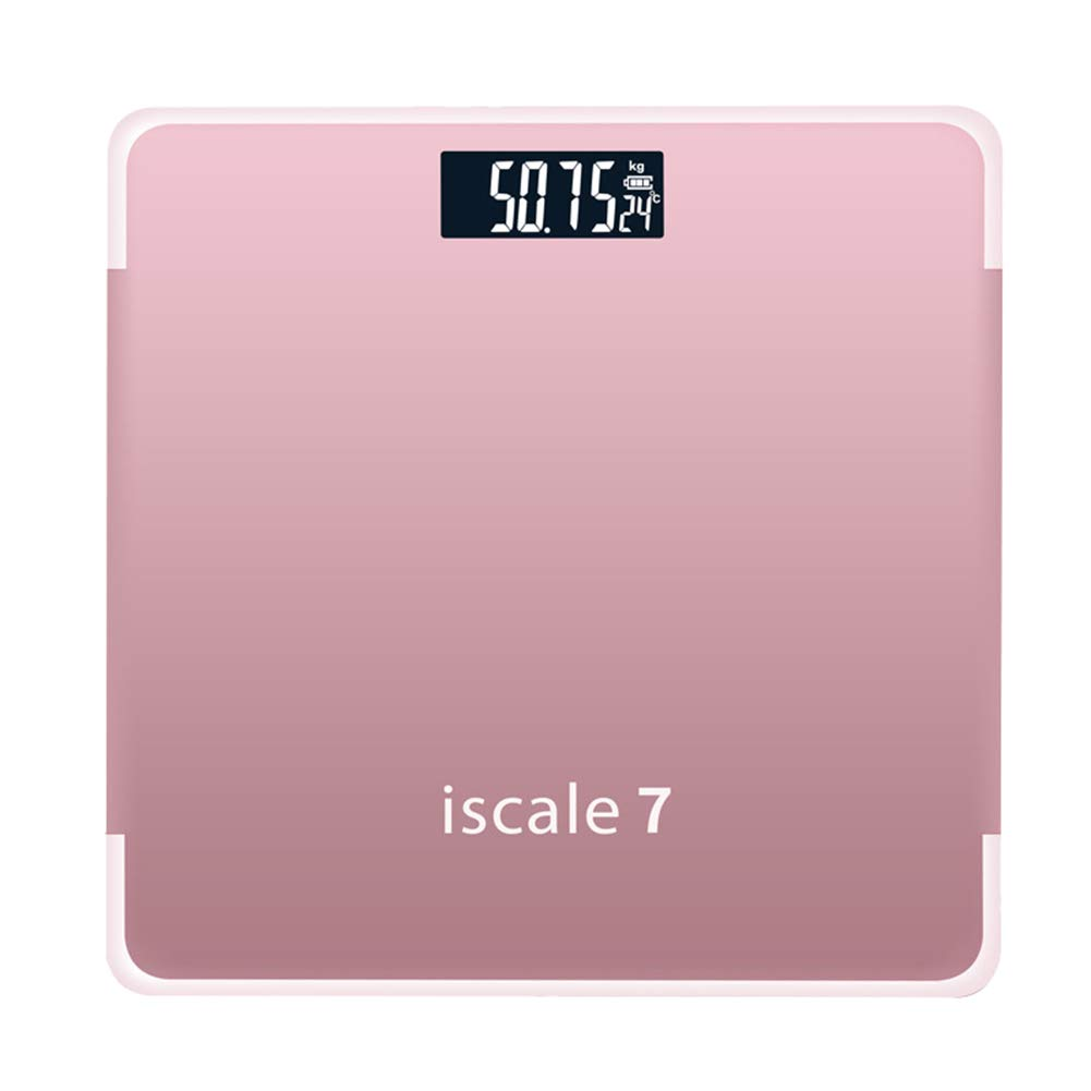 wvcetgbwe Body Fat Scale 180kg Accurate Lightweight Portable Electronic Weight Tempered Glass Home Bathroom Floor Body Scale Rose Red